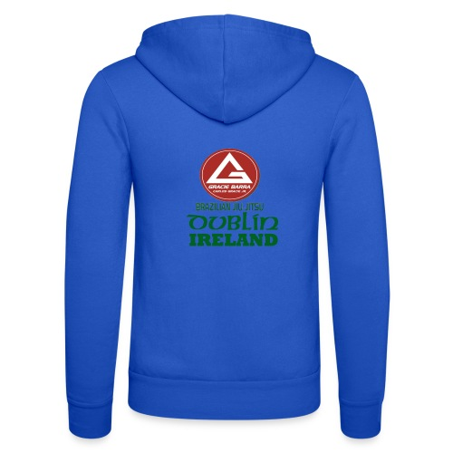 Gracie Barra Dublin Gaelic Celtic Font PNG - Unisex Hooded Jacket by Bella + Canvas