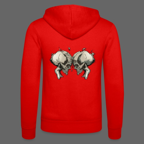 MHF_Logo_Loose-Skulls - Unisex Hooded Jacket by Bella + Canvas