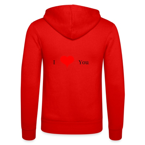 I Love you - Unisex Kapuzenjacke von Bella + Canvas