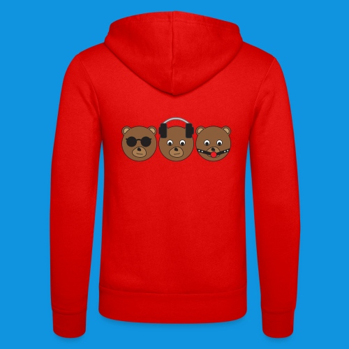 3 Wise Bears - Unisex Hooded Jacket by Bella + Canvas