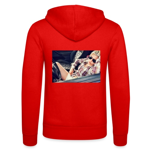 Cool woman in car - Unisex Hooded Jacket by Bella + Canvas