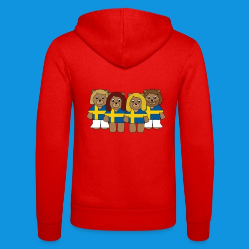 Abba Sweden Bears.png - Unisex Hooded Jacket by Bella + Canvas