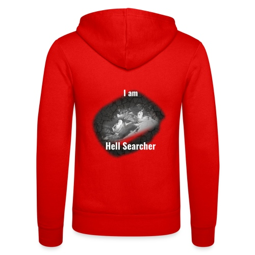 I am Hell Searcher T-Shirt Black - Unisex Hooded Jacket by Bella + Canvas