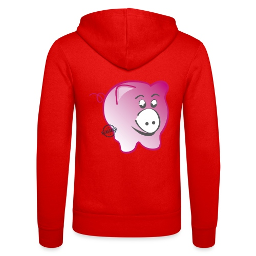 Pig - Symbols of Happiness - Unisex Hooded Jacket by Bella + Canvas