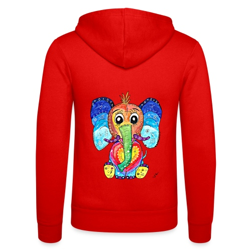 Happy Elephant - Unisex Kapuzenjacke von Bella + Canvas