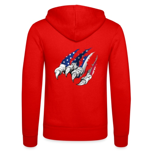 American Flag Claw - Unisex Hooded Jacket by Bella + Canvas