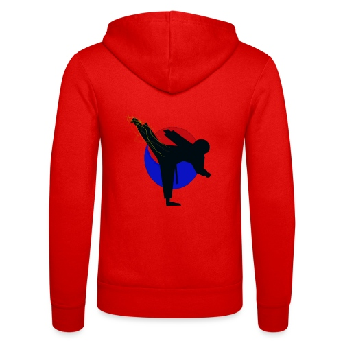 Taekwondo fighter design - Unisex hoodie van Bella + Canvas
