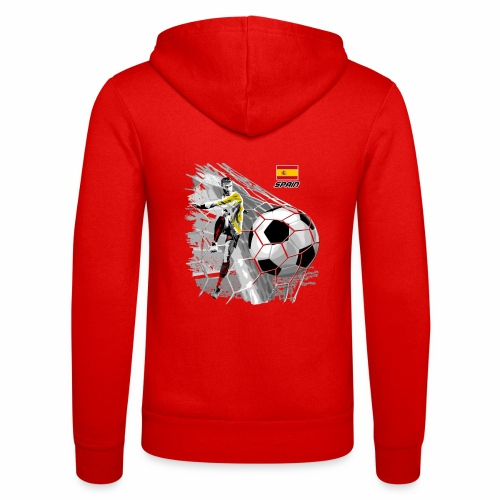 FP22F 02 SPAIN FOOTBALL - Unisex Bella + Canvas -hupputakki
