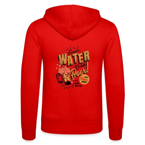 Save water - Unisex-hettejakke fra Bella + Canvas