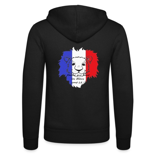 Lion supporter France - Veste à capuche unisexe Bella + Canvas