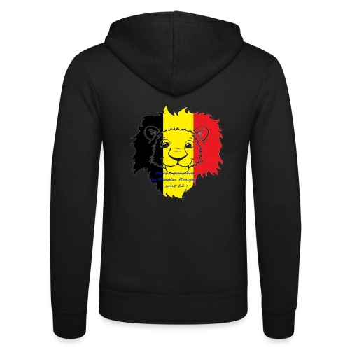 Lion supporter Belgique - Veste à capuche unisexe Bella + Canvas