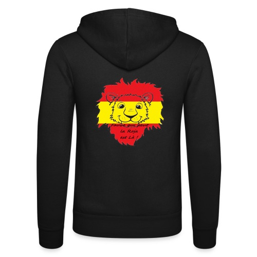 Lion supporter Espagne - Veste à capuche unisexe Bella + Canvas