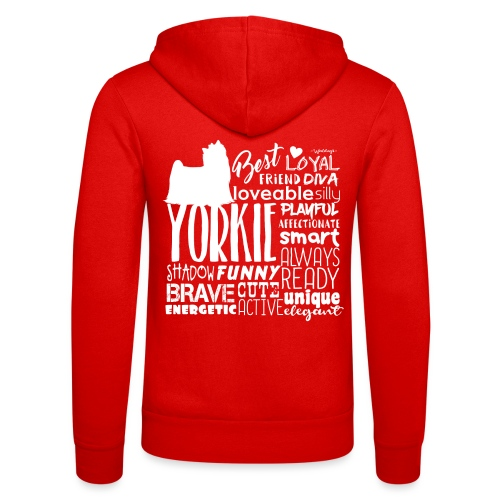 Yorkshire Terrier Words W - Unisex Bella + Canvas -hupputakki