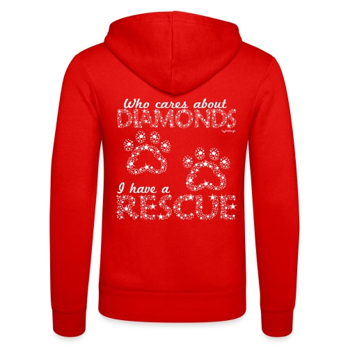 Diamond Rescue - Unisex Hooded Jacket by Bella + Canvas