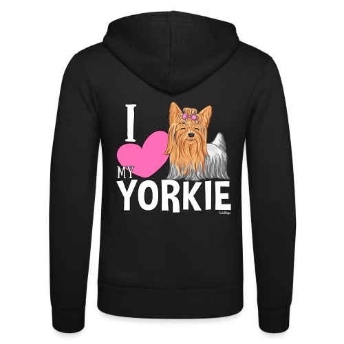 I love my Yorkie - Unisex Bella + Canvas -hupputakki
