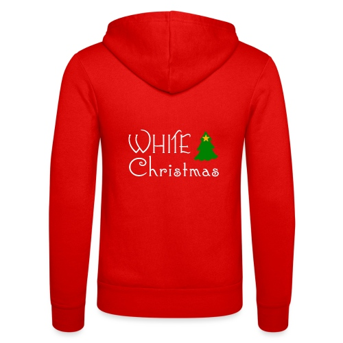 White Christmas - Unisex Hooded Jacket by Bella + Canvas