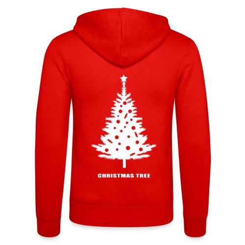 christmas tree, christmas, new year, rockefeller - Unisex Hooded Jacket by Bella + Canvas