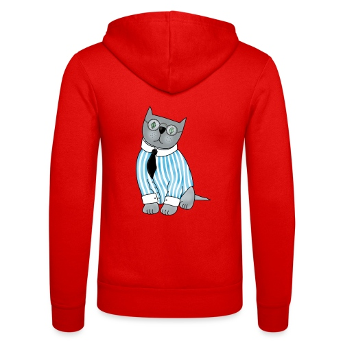 Cat with glasses - Unisex Hooded Jacket by Bella + Canvas
