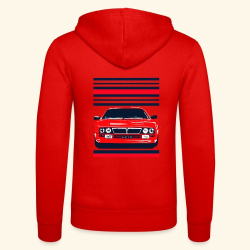 rally car - Unisex Hooded Jacket by Bella + Canvas