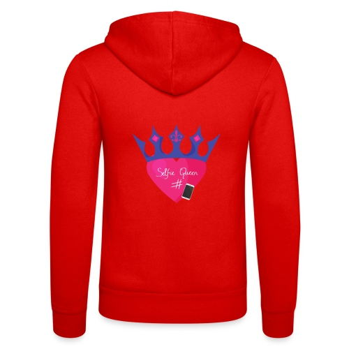 Humor Crown for real social media queens. - Unisex Hooded Jacket by Bella + Canvas