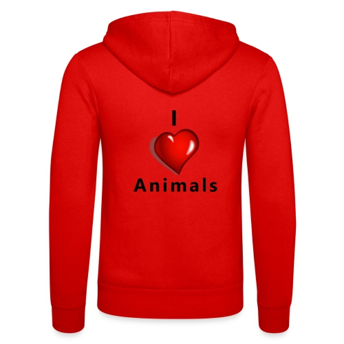 i love animals - Unisex hoodie van Bella + Canvas