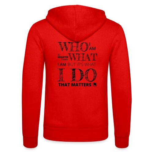 Who I Am - Unisex Hooded Jacket by Bella + Canvas