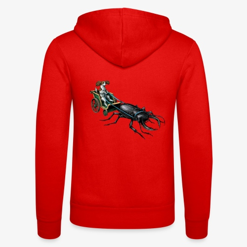 King Charles Spaniel with Stag beetle steed - Unisex Hooded Jacket by Bella + Canvas
