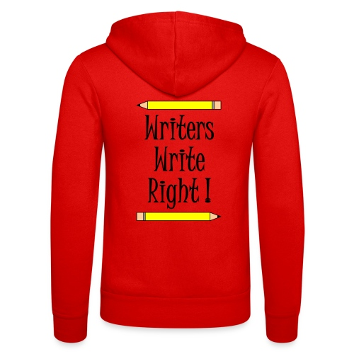 Writers Write Right - Unisex Hooded Jacket by Bella + Canvas