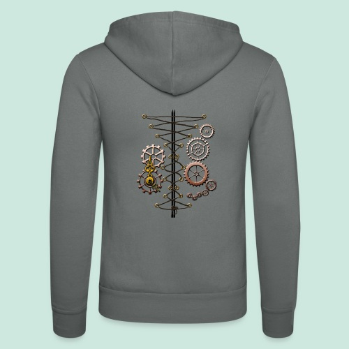 corset and cogs - Unisex Hooded Jacket by Bella + Canvas