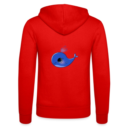 Mini Whale - Unisex Hooded Jacket by Bella + Canvas