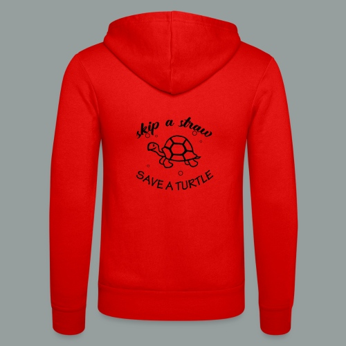 skip a straw save a turtle - Unisex Kapuzenjacke von Bella + Canvas