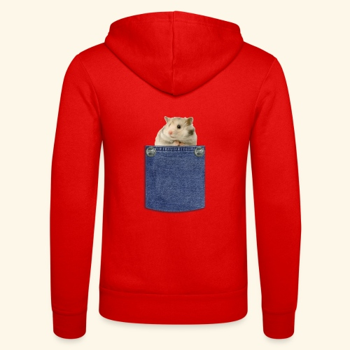 hamster in the poket - Felpa con cappuccio di Bella + Canvas