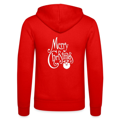 Merry Christmas - Unisex Hooded Jacket by Bella + Canvas
