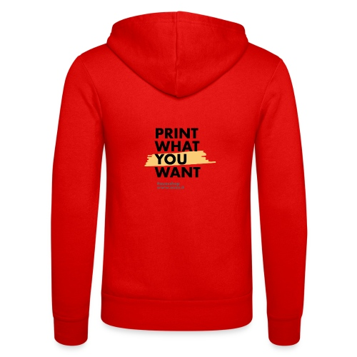 Print what you want - Felpa con cappuccio di Bella + Canvas