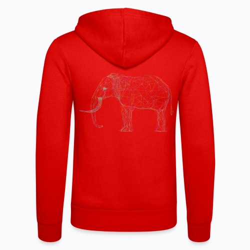 elephant linear - Unisex Hooded Jacket by Bella + Canvas