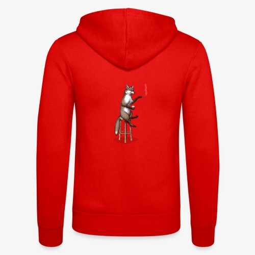 The Fox At the Bar - Unisex Hooded Jacket by Bella + Canvas