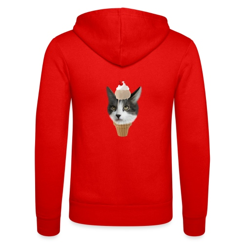 Ice Cream Cat - Unisex Kapuzenjacke von Bella + Canvas