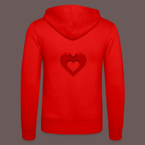 Heart Illusion - Unisex hættejakke fra Bella + Canvas