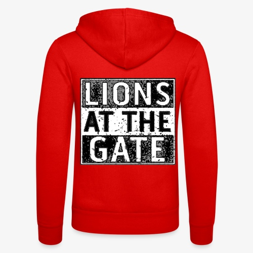 LIONS AT THE GATE BAND LOGO - Unisex hoodie van Bella + Canvas