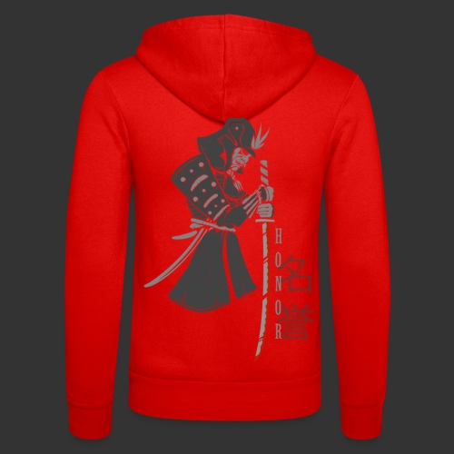Samurai Digital Print - Unisex Hooded Jacket by Bella + Canvas