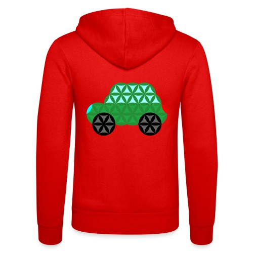 The Car Of Life - M02, Sacred Shapes, Green/363 - Unisex Hooded Jacket by Bella + Canvas