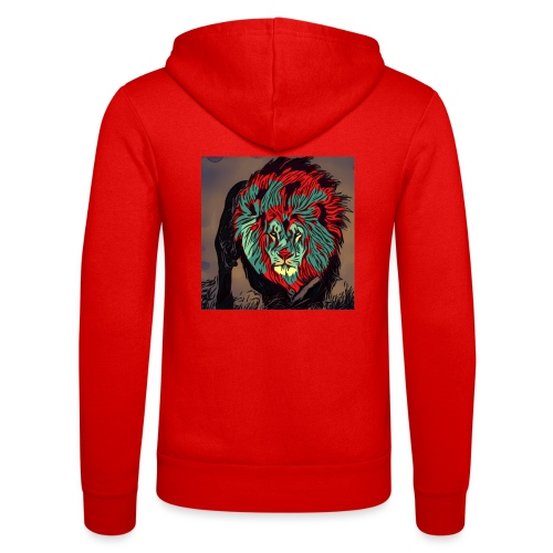 Lion in the Savannah - Unisex Hooded Jacket by Bella + Canvas