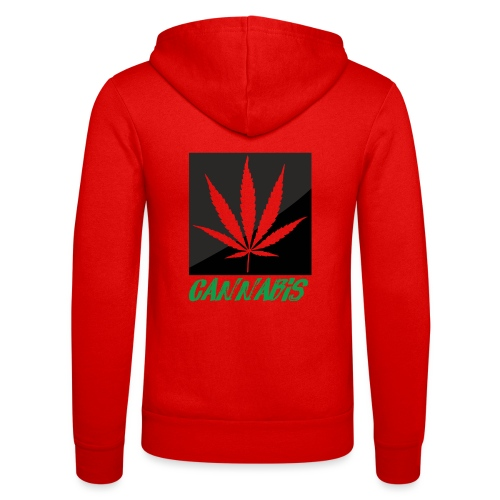 cannabis - Unisex Hooded Jacket by Bella + Canvas