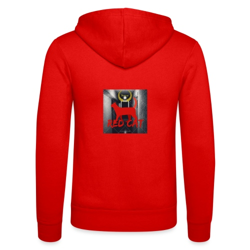 Red Cat (Deluxe) - Unisex Hooded Jacket by Bella + Canvas