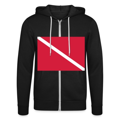 Diver Flag - Unisex Hooded Jacket by Bella + Canvas