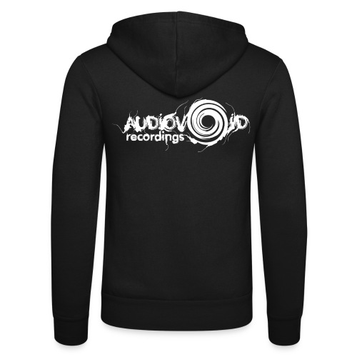 AudioVoid White Logo - Unisex Hooded Jacket by Bella + Canvas