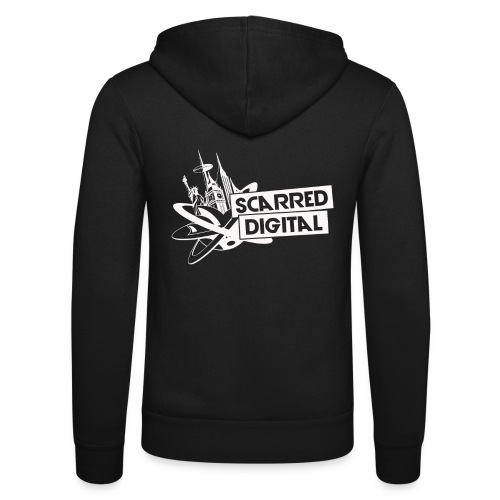 SCARRED DIGITAL WHITE TRA - Unisex Hooded Jacket by Bella + Canvas