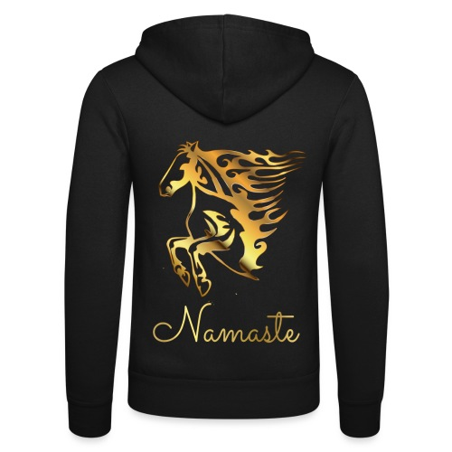 Namaste Horse On Fire - Unisex Kapuzenjacke von Bella + Canvas