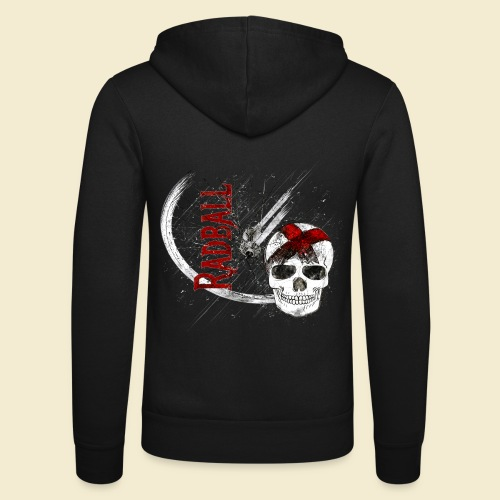 Radball | Cycle Ball Skull - Unisex Kapuzenjacke von Bella + Canvas