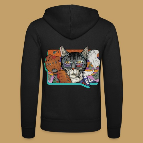 Crime Cat - Bluza z kapturem Bella + Canvas typu unisex